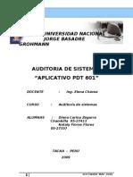 Auditoria Al Aplicativo Pdt 601 True
