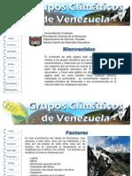 Grupos Climáticos de Venezuela