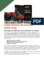 Dieta Massa Muscolare 3000 Kcal
