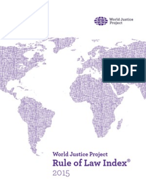 World Justice Project's Rule of Law Index 2015 report | Rule