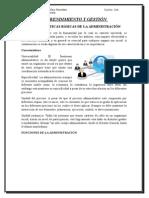 Características Básicas de La Administración y Funciones de La Administración