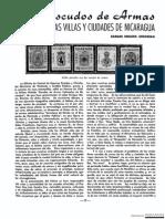 Los escudos de armas de las antiguas villas de Nicaragua