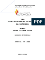 Mono Grafia de Teoria y Corrientes Sociológicos