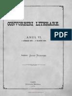 Convorbiri Literare 1 Ian 1873