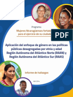 Aplicacion Del Enfoque de Genero en Las Politicas Publicas Desagregadas Por Etnia y Edad RAAN y RAAS