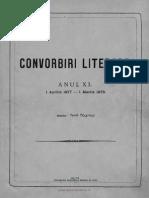 Convorbiri Literare 1 Aug 1877 Ion Creanga