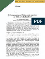 Código Penal Anteproyecto Soler 1960