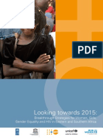 NEW Looking Towards 2015 HIV Gender
