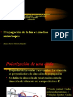Propagación de la luz en medios anisótropos