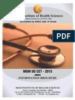 MGM UG CET Information Brochure 2015