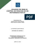Controlador Pid Para El Control de Posicion de Un Motorreductor Dc