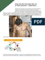 Los Hidratos de carbono Son Mas Esenciales Que Las Proteinas Para Ganar Masa Muscular ~ Salud Fisica,