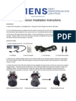 H4 Bi-Xenon Kit Install Instructions 2011