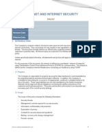 Intranet and Internet Security Policy - Sample 2