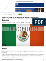 The Geopolitics of Mexico_ a Mountain Fortress Besieged _ Stratfor