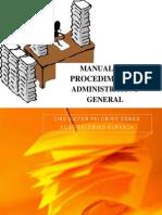 MANUAL DEL PROCEDIMIENTO ADMINISTRATIVO GENERAL