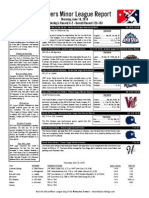 Minor League Report 15.06.18