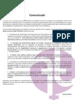 Comunicado del CMP FLORA TRISTÁN - Rechazamos declaraciones del PPC durante debate de la despenalización del aborto por violación