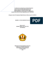 Studi Fasies Dan Lingkungan Pengendapan Satuan Batupasir Formasi Halang