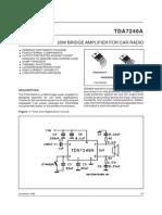 Tda7240 20w Bridge Amplifier for Car Radio