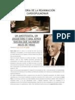 Historia de La Reanimación Cardiopulmonar