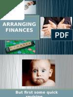 arranging finances