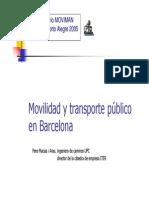 mobilidad y transporte en barcelona