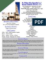 St. peter the Apostle's Bulletin June 21, 2015