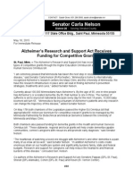 Alzheimer's Research and Support Act Receives Funding for Competitive Grants