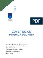 Trabajo Final Constitucion Psiquica Del Niño.
