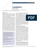 NICE Clinical Guideline- Chest Pain of Recent Onset