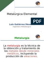 Metalúrgica Elemental Clase 1