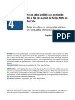 Notas sobre audiências, comunidades e fãs nos canais de Felipe Neto no YouTube