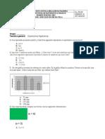 Evaluacion Final Grado 8o Matematicas