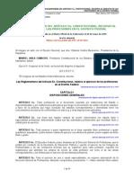 Ley Reglamenteria Del Art. 5 Const