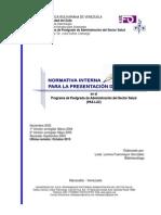 Normativa Interna Pas 2013