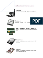 Hardware and Functions for Internet Access