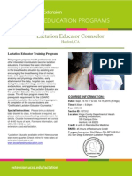 Lactation Educator Counselor Course - Fall 2015