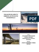 VALUACIÓN DEL IMPACTO AMBIENTAL DE PROYECTOS DE DESARROLLO