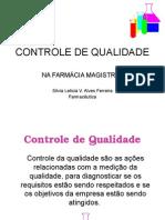 CVISA - Controle de Qualidade (Farmácia Magistral)