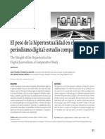 El Peso de La Hipertextualidad en el Periodismo Digital