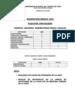Residentado.medico 2014 Vacantes.requisitos