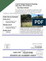 Jodo Mission Bulletin - July 2015