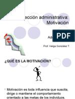 Clase13.Dirección Administrativa, Motivación