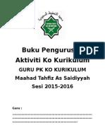 Buku Log Aktiviti Ko Kurikulum