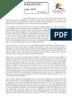 Information Bulletin No 1 12 February, 2010