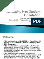 Facilitating New Student Orientation