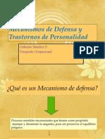 Mecanismos de Defensa y t. de p.