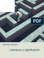Todorov Zvetan - Literatura y Significacion