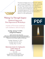 Flyer for Diamond Approach Boston Free Meeting